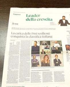 """Il Sole 24 ORE"" - Article: ""Growth Leaders 2019: here are the Italian companies that grow the most"""